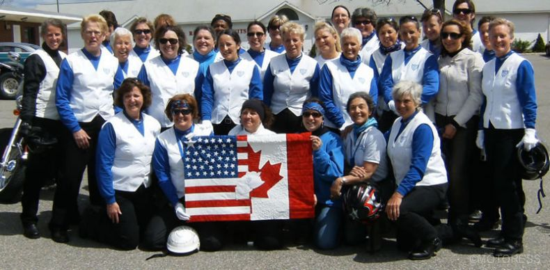 2010 IFRD Motor Maids Canada USA Flag Exchange