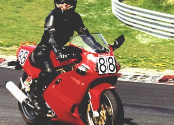 Bliss in Women Motorcycle Riders' Smiles