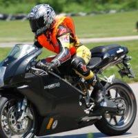 Vicki Gray on Ducati 749 Dark BLOG