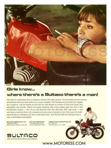 Bultaco Motorcycle Ad on MOTORESS