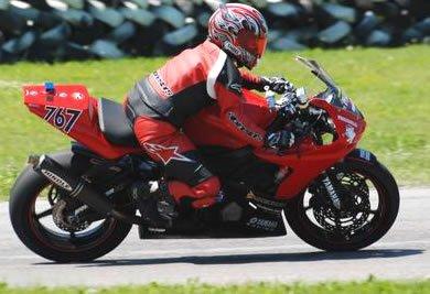 Woman motorcycle Rider on Motoress