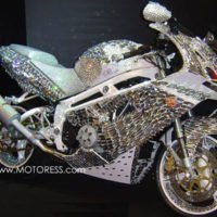 Swarovski Crystal Covered Motorcycle on MOTORESS