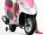 Blog Training Wheels on Scooter