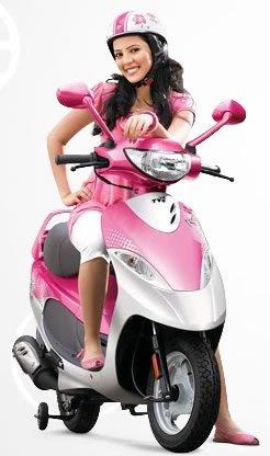 Training Wheels On A Scooter Keep You Balanced Woman