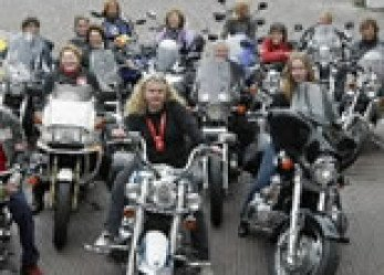 Group of Motorcycle Granny's Set Guinness Record in The Netherlands