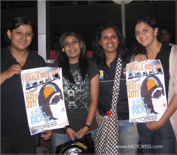 Women Motorcycle Riders in India Join International Female Ride Day - MOTORESS