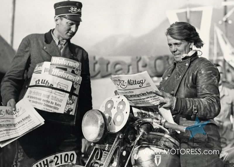 Ilse Thouret Woman Motorcycle Racer on MOTORESS