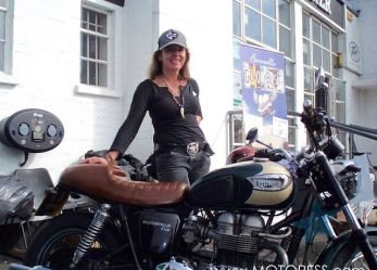 Zoe Cano Bonneville Go or Bust Ride Adventure Across America