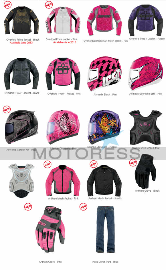 ICON Womens Motorcycle Apparel 2013 Collection | Woman Motorcycle ...