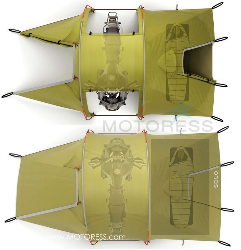 Motorcycle Tent for C&ing and Touring on MOTORESS  sc 1 st  Motoress : motocycle tent - memphite.com