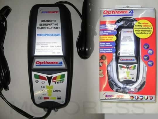 OptiMATE 4 Battery Charger on MOTORESS