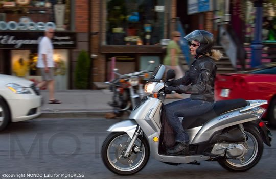 Kymco Scooter 125 Ride Review Woman Motorcycle Rider