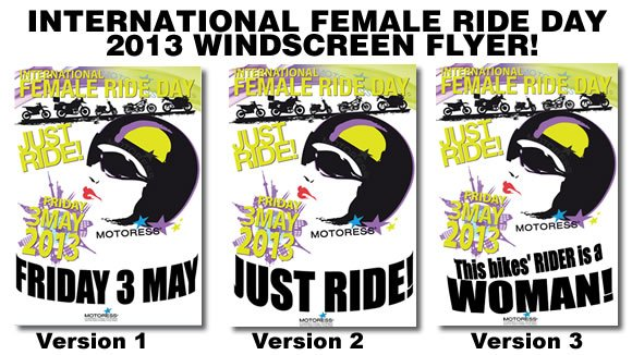 International Female Ride Day 2013 Flyer