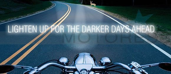 Lighten up for Darker Riding Days