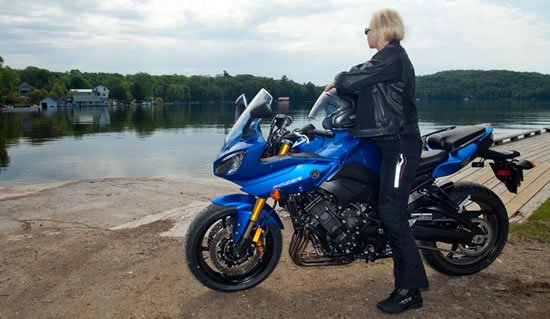 Yamaha FZ8 Great for Women Motorcycle Riders Vicki Gray