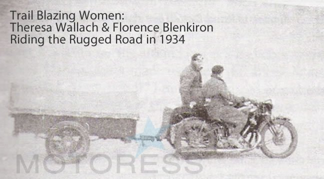 Theresa Wallach Woman Motorcycle Pioneer