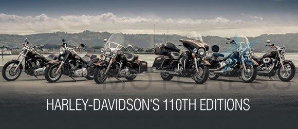 Harley-Davidson 110th Anniversary Edition Motorcycles | Woman ...