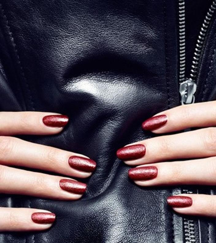 Leather Effect Nail Polish on MOTORESS