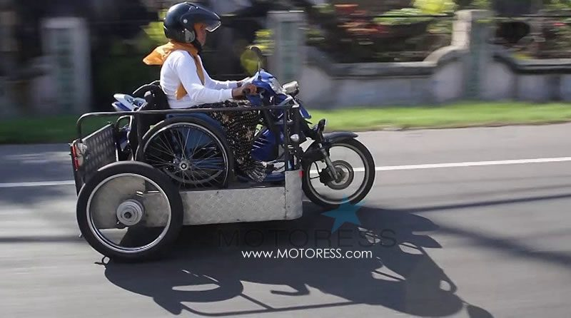 Jakarta to Bali on Modified Motorcycle Sri Lestari MOTORESS
