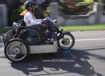Jakarta to Bali on Modified Motorcycle Sri Lestari Defies Limits