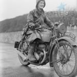 Women Motorcycle Dispatch Riders Saluting the Wrens