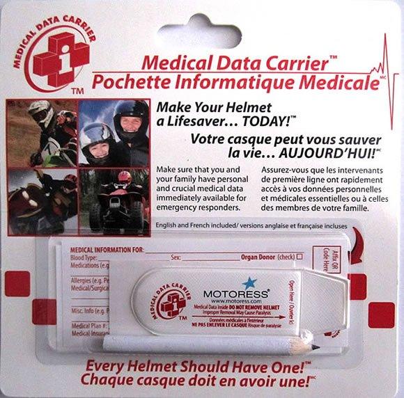 Motoress Medical Data Carrier
