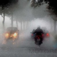 Riding in Heavy Rain