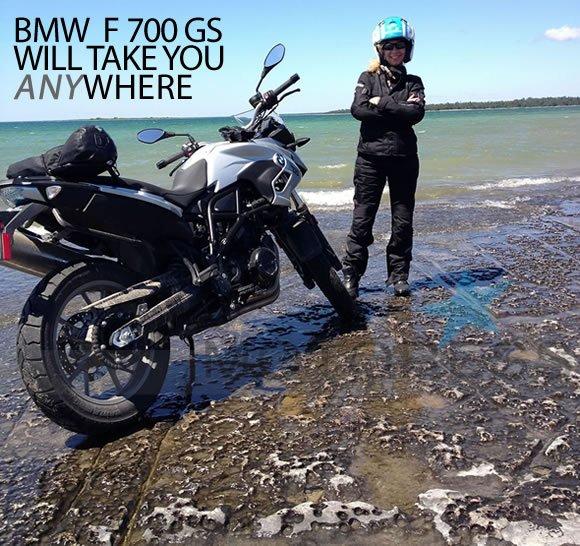 BMW F700GS on MOTORESS
