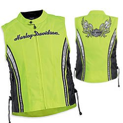 Milwaukee Side Lace Snap Up Womens Reflective Leather ... |Motorcycle Safety Vest Womens