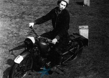 Queen Elizabeth II Majestic Motorbike Manoeuvres