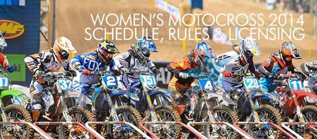 Womens MotoCross Schedule