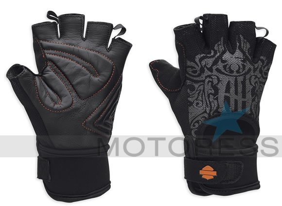 MotoCruise Mesh Harley-Davidson Women's Fingerless Gloves - MOTORESS