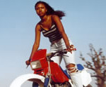 Girl from Senegal Who Learned to Ride a Motorcycle