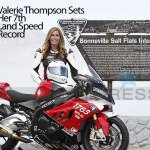 Woman Motorcycle Drag Racer Sets 200Mph Land Speed Record