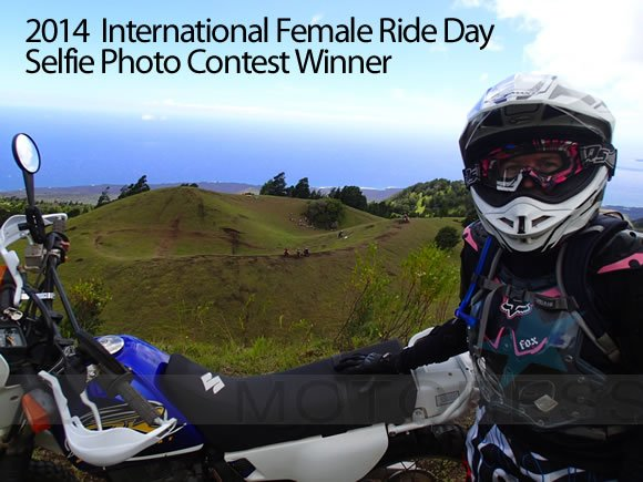 2014 International Female Ride Day Selfie Photo Winner - MOTORESS