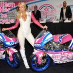 Paris Hilton Supports 125cc GP Motorcycle Racing Team