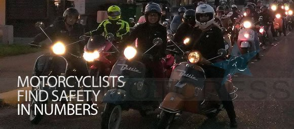 Motorcycle Riders Find Safety in Numbers on Motoress