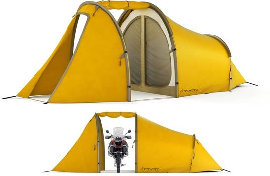 Motorcycle Tent for C&ing and Touring on MOTORESS  sc 1 st  Motoress & Tent For Motorcycle Camping and Touring | Woman Motorcycle ...