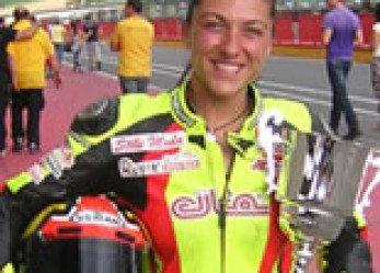 Woman Motorcycle Racer Letizia Marchetti