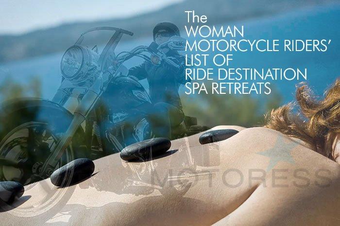 Woman Motorcycle Riders List of Ride Destination Spa Retreat's Ontario