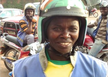 This is Rwanda's Only Woman Motorcycle Taxi Driver