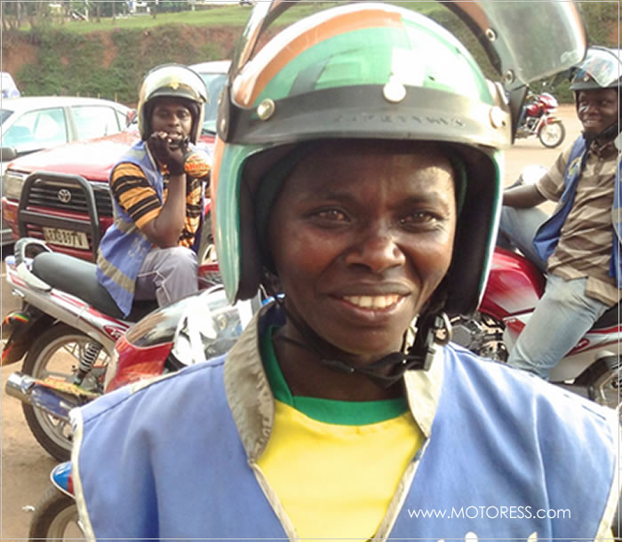 Rwanda's Only Woman Motorcycle Taxi Driver - MOTORESS