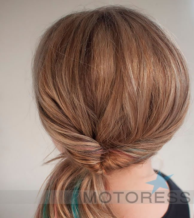 Helmet Hairdo on Motoress