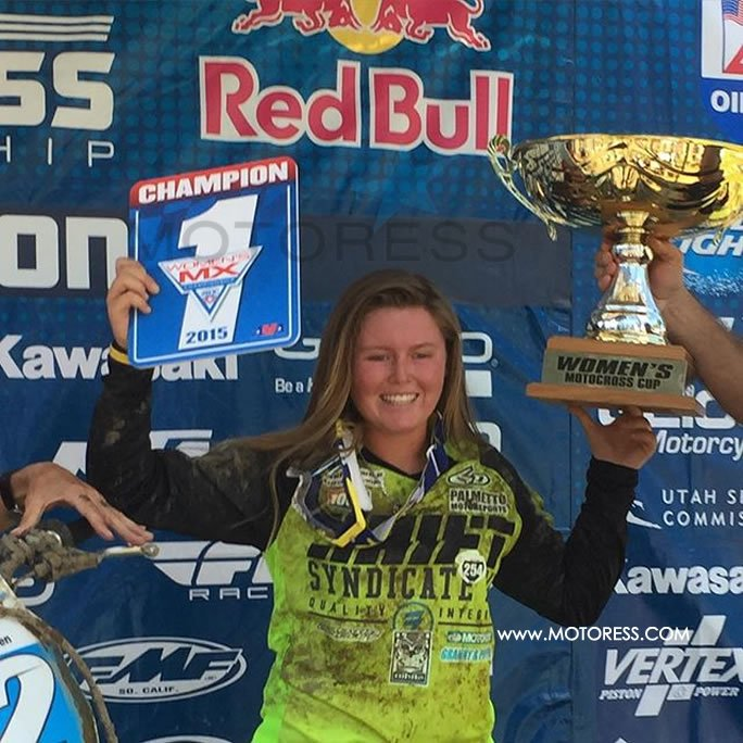Kylie Fasnacht Women's Motocross Champ on Motoress