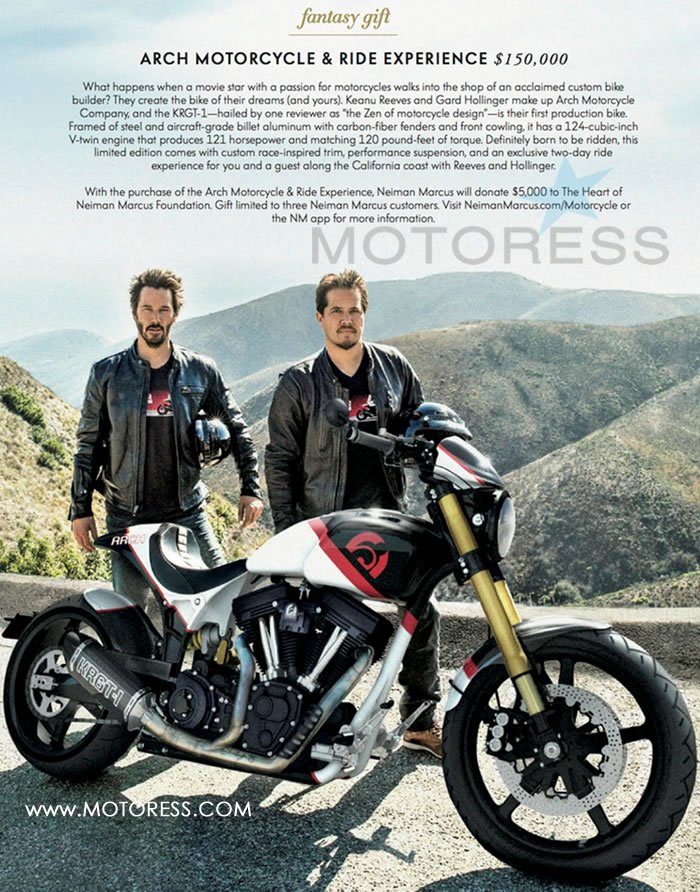 Keanu Reeves Ride for Xmas on MOTORESS