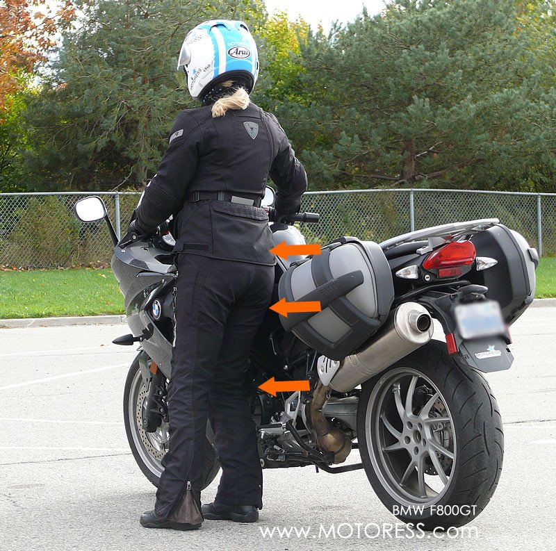 Walking your motorcycle on MOTORESS