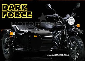 Ural Star Wars Dark Force Motorcycle Sidecar Complete with Lightsaber