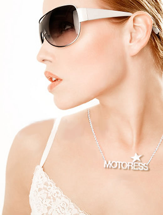 MOTORESS Silver Necklace Pendant