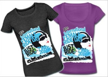 International Female Ride Day 2016 Official Ride Day T-Shirts