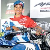 First Woman Rider Signed to TVS Racing Team Readying for India's National Rally